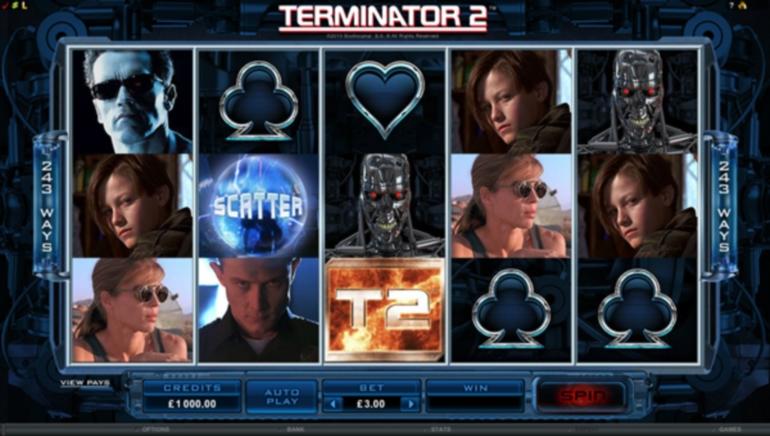 Lanzamiento de un nuevo juego: se estrena la tragamonedas de video Terminator 2