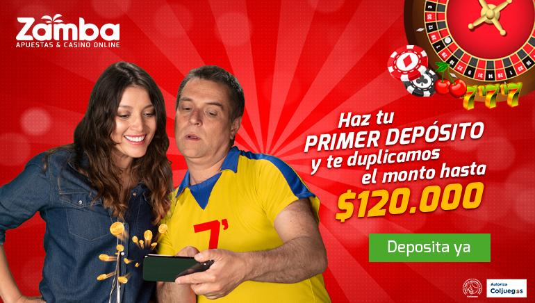 Zamba Apuestas y Casino Online de Colombia les da la bienvenida a los jugadores con un bono que duplica el saldo hasta $120.000